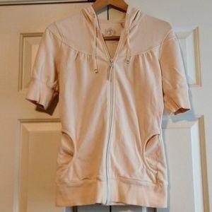 ⭐Zella Short Sleeve Zip Up Hoodie Sweatshirt Small